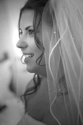As a Beverly Hills wedding photographer, this beautiful profile of a bride really captures the peace in her style