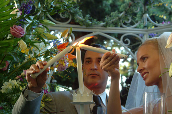 Ahhh... the lighting of the unity candle at a wedding in los angeles