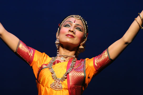 Classical Indian dance photo, headshot.